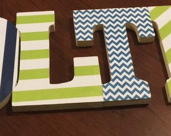 Lime green and blue sign