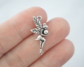 10 Pcs Fairy Charms Angel Charms Antique Silver Tone 2 Sided 25x11mm - YD0344