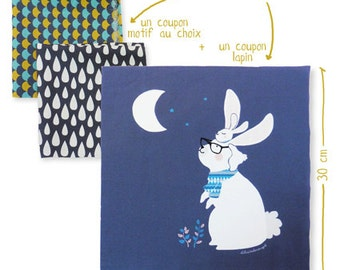 Printed Fabrics sewing - cousssin rabbit - Kit