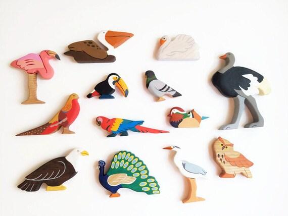 Toys For Bird : Birds set pcs toys waldorf nature table