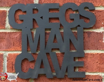 Personalized Man Cave Sign, Man Cave, Wall Decor, & FREE SHIPPING!  7-16