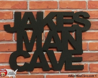 Personalized Man Cave Sign, Man Cave, Wall Decor, & FREE SHIPPING!