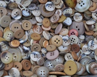 1/2 Pound Mixed Vintage Brown Buttons /370