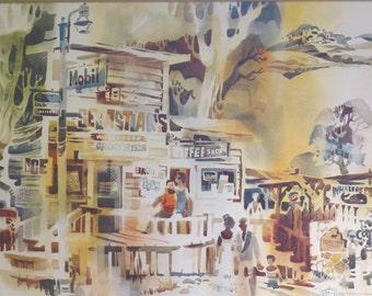 "Robert Gray Artist Signed Modernist Lithographic Print ""Sebastian's Store"" #68/350 COA"