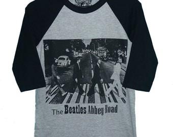 The Beatles baseball shirt size S M L XL gray raglan shirt **3/4 sleeve t shirt **Men women tshirts **teen clothing