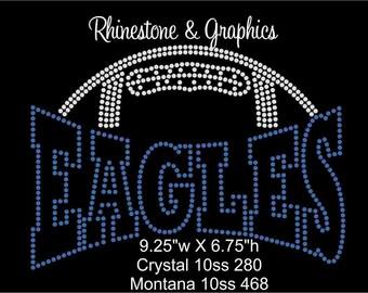 Rhinestone Football Eagles Design Pattern Graphic Design Instant Download EPS SVG PLT Cutting Files