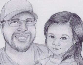 Custom pencil portrait  *digital copy only*