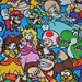 LAST ONE!  One yard of Super Mario Brothers Nintendo 100% Cotton Quilt Fabric by Springs Creative