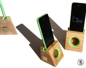 Acoustic speaker  wooden phone dock stand i phone SE  i phone 6 nexus galaxy nokia experia cell phone most stand  wood i phone speaker