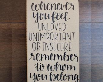 Remember | Moleskine Cahier | Inspirational | Hand Lettered
