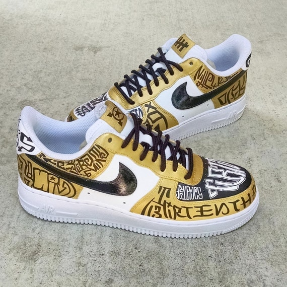 best cheap a37df 20c91 Fukijama Custom Nike Air Force 1 by OCSneakerKing on Etsy 85%OFF