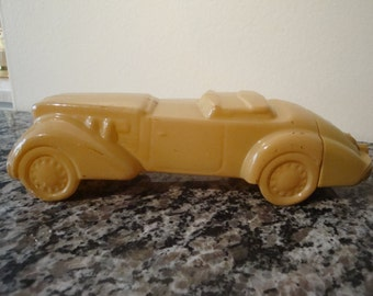 Clearance- Vintage Yellow Avon Cologne Car Bottle