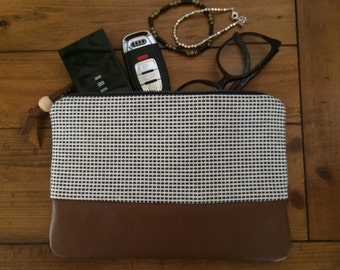 Clutch, Woven clutch, Leather clutch, Leather, Zipper clutch, Wallet, Pouch, Travel pouch, Purse, Handbag, Wallet Clutch, Tech Bag