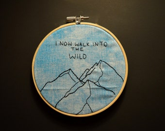 Into The Wild Embroidery Art - Hoop Art