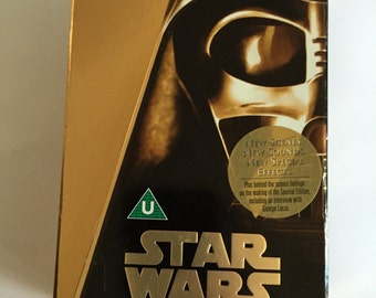 Star Wars Trilogy - Special Edition - Gold Box - 3 Video Set Vhs