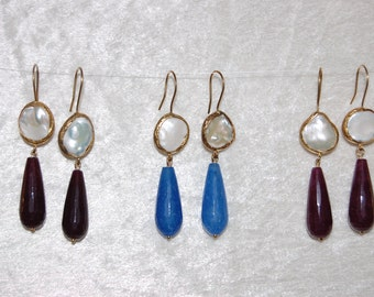 Tear Drop Pearl Earrings 90% OFF