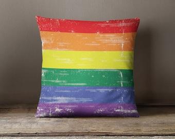 Gay Pride Pillow   Gay Pride Flag   LGBT Pride   Rainbow Pillow   Rainbow Pillowcase   Rainbow Decor   Rainbow Flag   Rainbow Pride