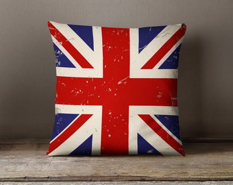 "Union Jack Pillow - ""Bold Blue & Red - The Union Jack"" Pillow Case"