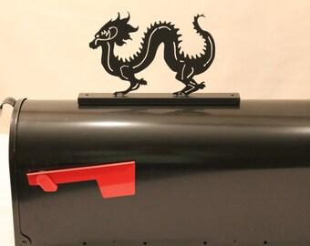 Dragon-Metal Mailbox Topper