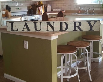 Laundry Sign, Hand Painted Sign, Wood Sign, Rustic Sign, DIstressed Sign, Farmhouse Decor