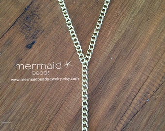 Lanyard Gold Lanyard Gold Chain Lanyard Chain Lanyard ID Badge Holder Corporate Gift Gold Badge Holder Gold ID Holder Pretty Lanyard Fashion