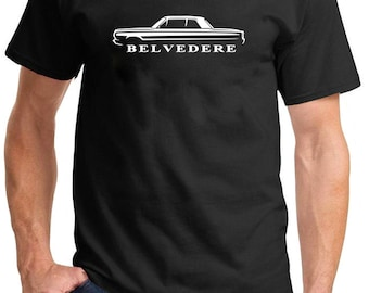 1965-67 Plymouth Belvedere Hardtop Classic Outline Design Tshirt