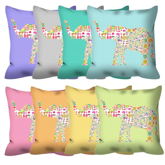 Decorative Pillows For Baby Room : elephant decor baby pillow elephant pillow baby room decor