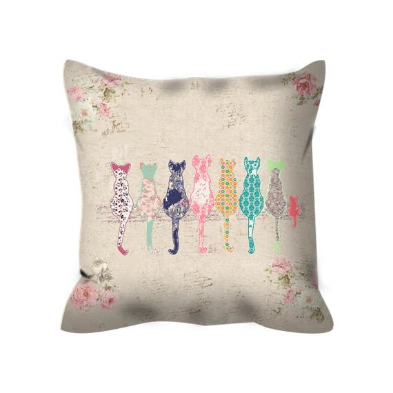 Decorative Pillows For Crib : cat throw pillow nursery pillow cat decorative pillow throw