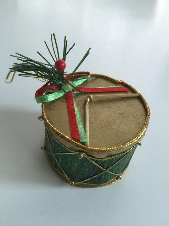 Vintage Christmas ornament Vintage Miniature figurine Drum