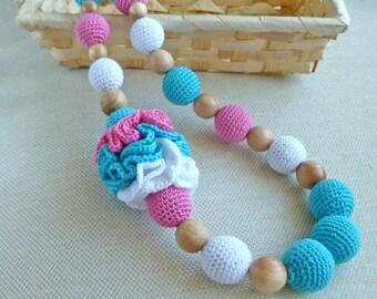 "Nursing necklace/ Teething necklace/ Breastfeeding necklace / Babywearing necklace ""An Icecream"""