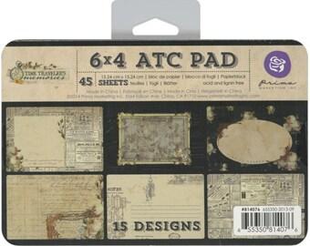 Prima Marketing 6X4 ATC Pad-Time Traveler