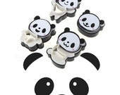 4PC Panda Cookie Cutters Bear Cookie Cutters Biscuit Mold Fondant Cake Topper panda biscuit mold