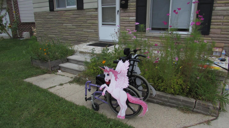 rolling buddies unicorn pegasus wheelchair costume child u0027s