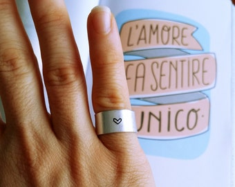 Double aluminium ring with engraving customizable