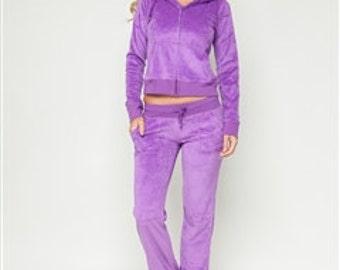 Purple Velour Set