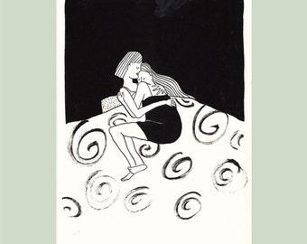 Print of 2 women