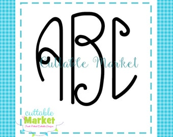 EXCLUSIVE Lilly Circle Monogram Font SVG DXF and Jpg