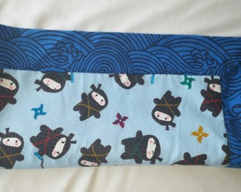 Ninja Blue Baby Blanket