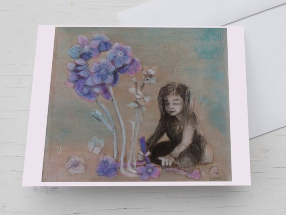 Congratulations Cards for friend, forget-me-not card, myosotis card,fathers day,  blue card flowers, your little girl, flowers for mom,