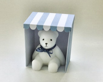Soap bear. Teddy in a Tent. Little soap teddy bear in a card tent. Novelty soap. Gift