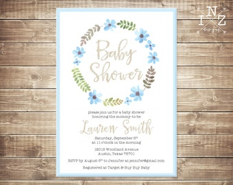Baby Shower Invitation - Printable File