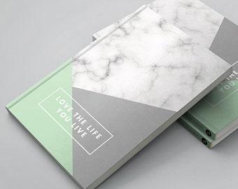 Mini (A6) Gratitude Journal - Love the Life You Live | Gratitude Diary