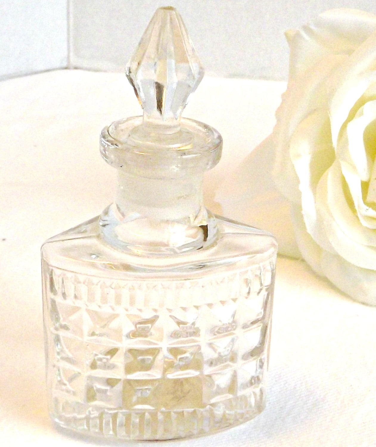 Vintage ship glass perfume bottle