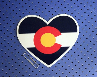 Colorado Heart Flag Sticker