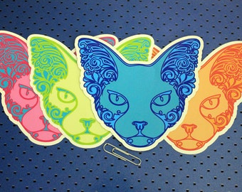 4 Sphynx Cats Bumper Stickers Set