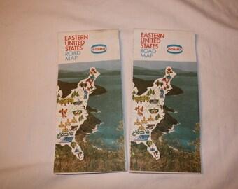 SOHIO Eastern United States road maps (2)