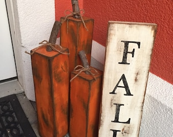 Rustic wood Fall sign