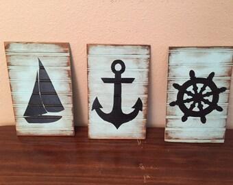 Rustic Nautical Figures