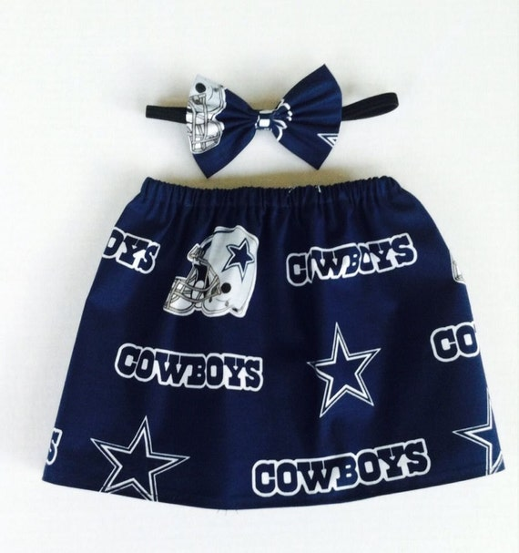NFL Dallas Cowboys Baby Girl Football Skirt and Matching Bow