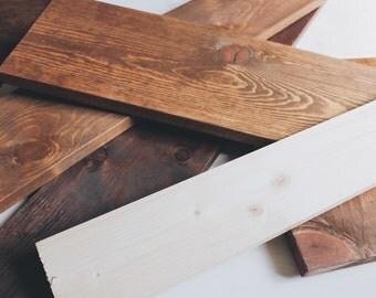 Custom hand lettered wood signage